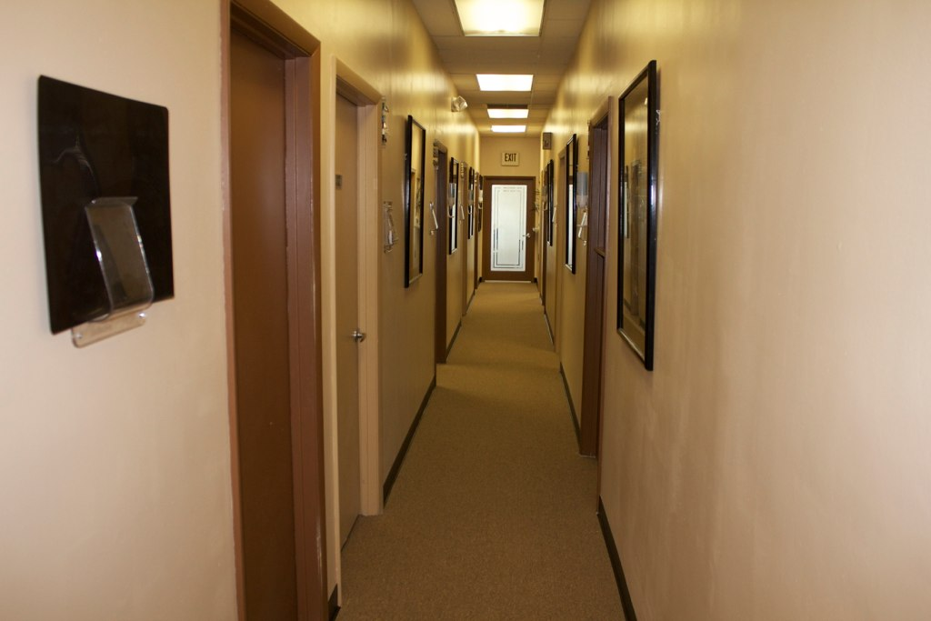 A hallway in the office of Broward Health & Wellness in Margate Florida a 33063 chiropractor